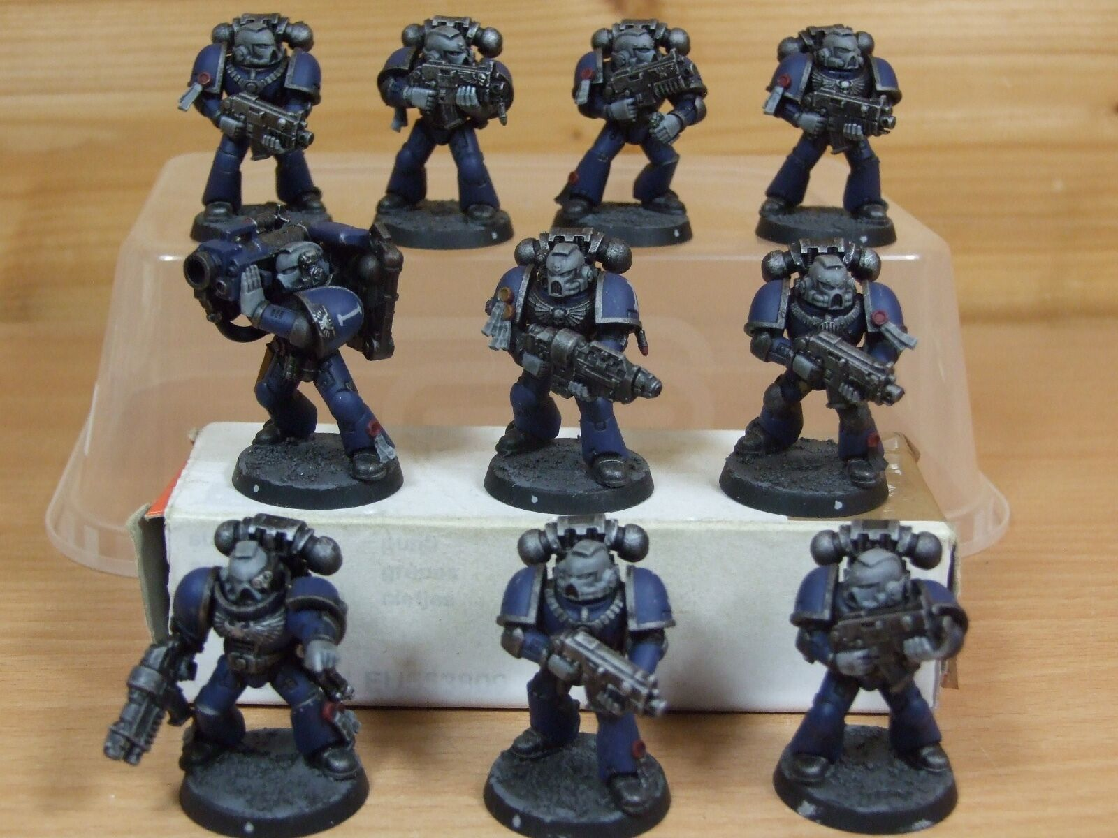 10 PLASTIC SPACE MARINE TACTICAL SQUAD WELL PAINTED (802)