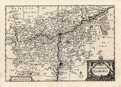Maps, Atlases & Globes Europe Maps Selfless Antique Map-namur-namen-belgium-colom-1635