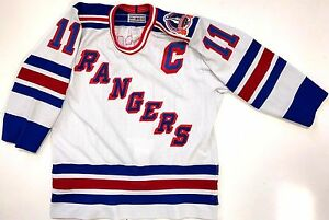 size 40 145fc bf831 Details about MARK MESSIER NEW YORK RANGERS 1994 STANLEY CUP AUTHENTIC CCM  WHITE JERSEY 44