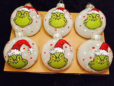 The Grinch Decorated Glass Ball Christmas Ornaments - Set of 6
