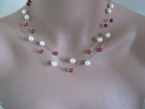 Collier Ivoire Bordeaux, robe Mariée Mariage Soiréé perle style ... 7665c15cb965