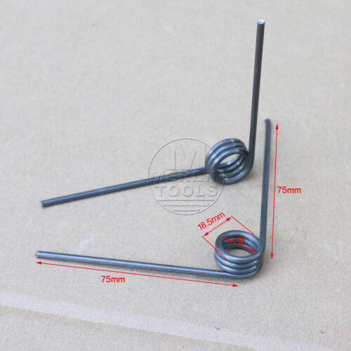 2 Pcs Wire Dia 2.5mm OD 18.5mm 4 Coils 90 degree Torsion Spring