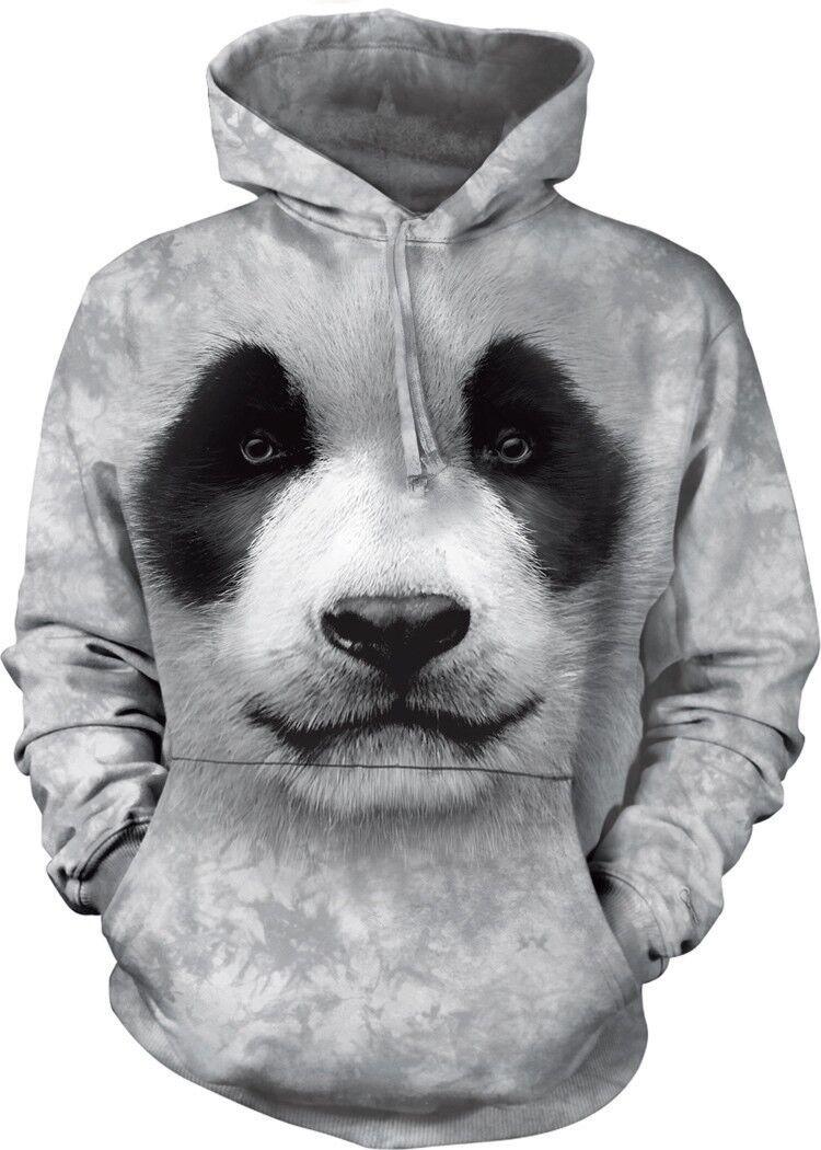 BIG Faccia Faccia Faccia Panda Adulto Animale Felpa con cappuccio la montagna 793438