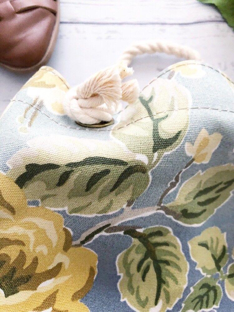 Vintage 1990's Laura Ashley Floral Cinch Backpack… - image 3