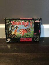 Disney's The Jungle Book (Super Nintendo SNES) CIB Original Box