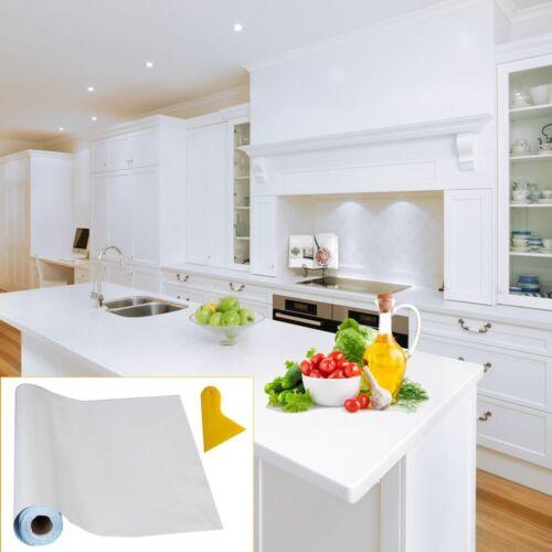 Melko® 2,38€//m² 10x0,63M Möbelfolie Spachtel Weiß Selbstklebend Plotterfolie ✅