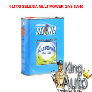 4LT-LITRI-OLIO-MOTORE-SELENIA-MULTIPOWER-5W40-5W-40-GAS-METANO-LUBRIFICANTE