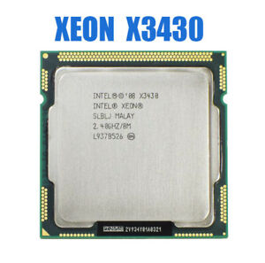 Intel-Xeon-X3430-Quad-Core-2-4GHz-LGA1156-8M-Cache-95W-Desktop-CPU-used-4-Cores