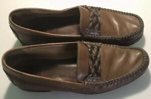 Mens-Bally-Leather-Slip-on-Loafers-Brown-size-10-D-25