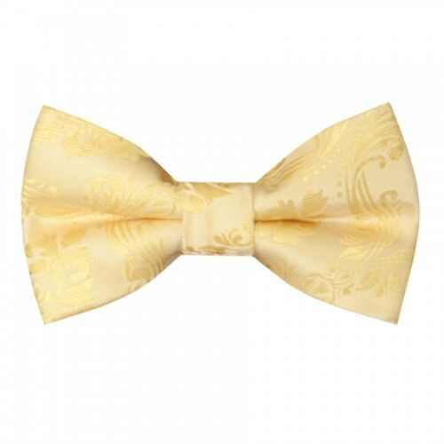 Pre Tied Gold Paisley Boys Bow Tie Age 8-11 Kids Dickie Bow Childrens Bow Childs