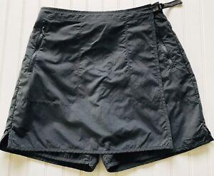 Capable Columbia Grt Short Jupe Wrap Short Femme Sz L Noir 100% Nylon Poche Zippée-afficher Le Titre D'origine ArôMe Parfumé