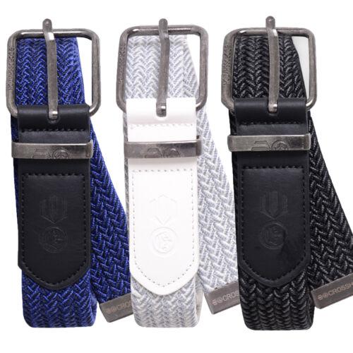 Crosshatch Da Uomo odsall Designer PU cuoio intrecciato fibbia in metallo cintura alla moda
