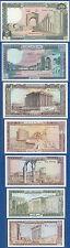 LIBANON / LEBANON Set 1 bis 250 Livres 1980-88  UNC  P.61-67