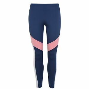 adidas Design 2 Move Colour Block Tights Ladies Performance Pants Trousers