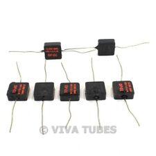 Vintage Lot Of 7 Tobe Type Dp 01 Black Square Mica Capacitors 10 Uf 600 Vdc