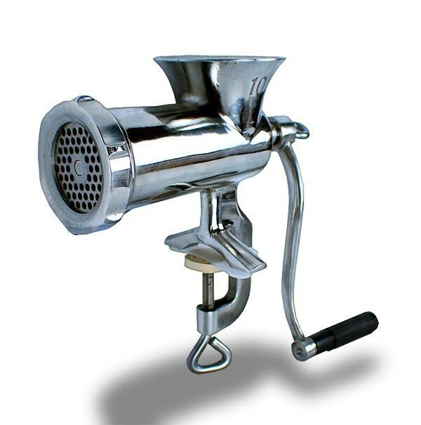 mtn gearsmith stainless steel manual meat grinder 8 sausage stuffer rh ebay com stainless steel manual meat grinder reviews stainless steel manual meat grinder