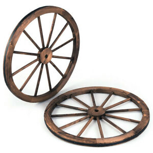 "Details about 112"" Wagon Wheel Set of 12 Large Decorative Vintage Country  Wood Rustic Primitive"