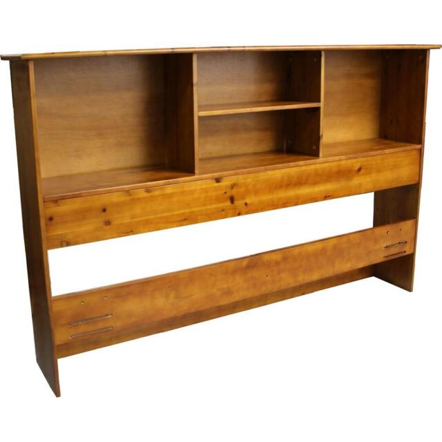 Stockholm Bamboo Solid Bookcase Headboard King Size Medium Oak