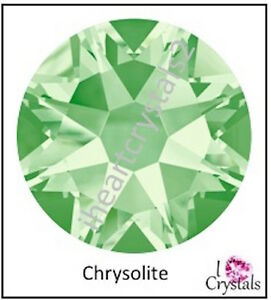 5a8302905a06a Details about CHRYSOLITE Green 144 pieces 12ss 3mm Swarovski Crystal  Flatback Rhinestones 2088
