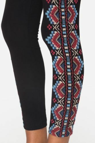NWT Johnny Was Sonoma Embroidered Leggings BLACK $120 S M L XL XXL Pants Boho