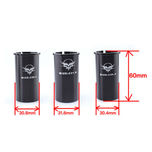 Bicycle MTB Seat Post Shim Tube Sleeve Adapter 27.2mm to 30.4mm//30.8mm//31.6mm
