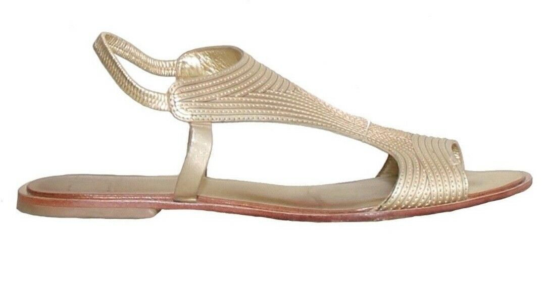 DVF Flat Leather Sandals (SIZE 7)