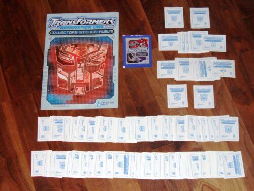 Transformers Generation One Empty Sticker Album&Complete Loose sticker Cards Inc