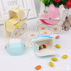 Details About 10x Baby Shower Candy Gift Carriage Boxes Boy Girl 1st Birthday Party Decor Diy