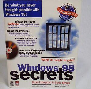 Details about Computer Book: Windows 98 Secrets - IDG Books Brian  Livingston & Davis Straub