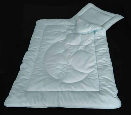 Kinderdecke Bettdecke Blau Baby Set Mond Steppbett + Kissen 100x135cm 40x60cm