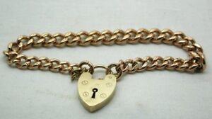 Superb-Edwardian-Heavy-Quality-9-Carat-Rose-Gold-Curb-Link-Bracelet