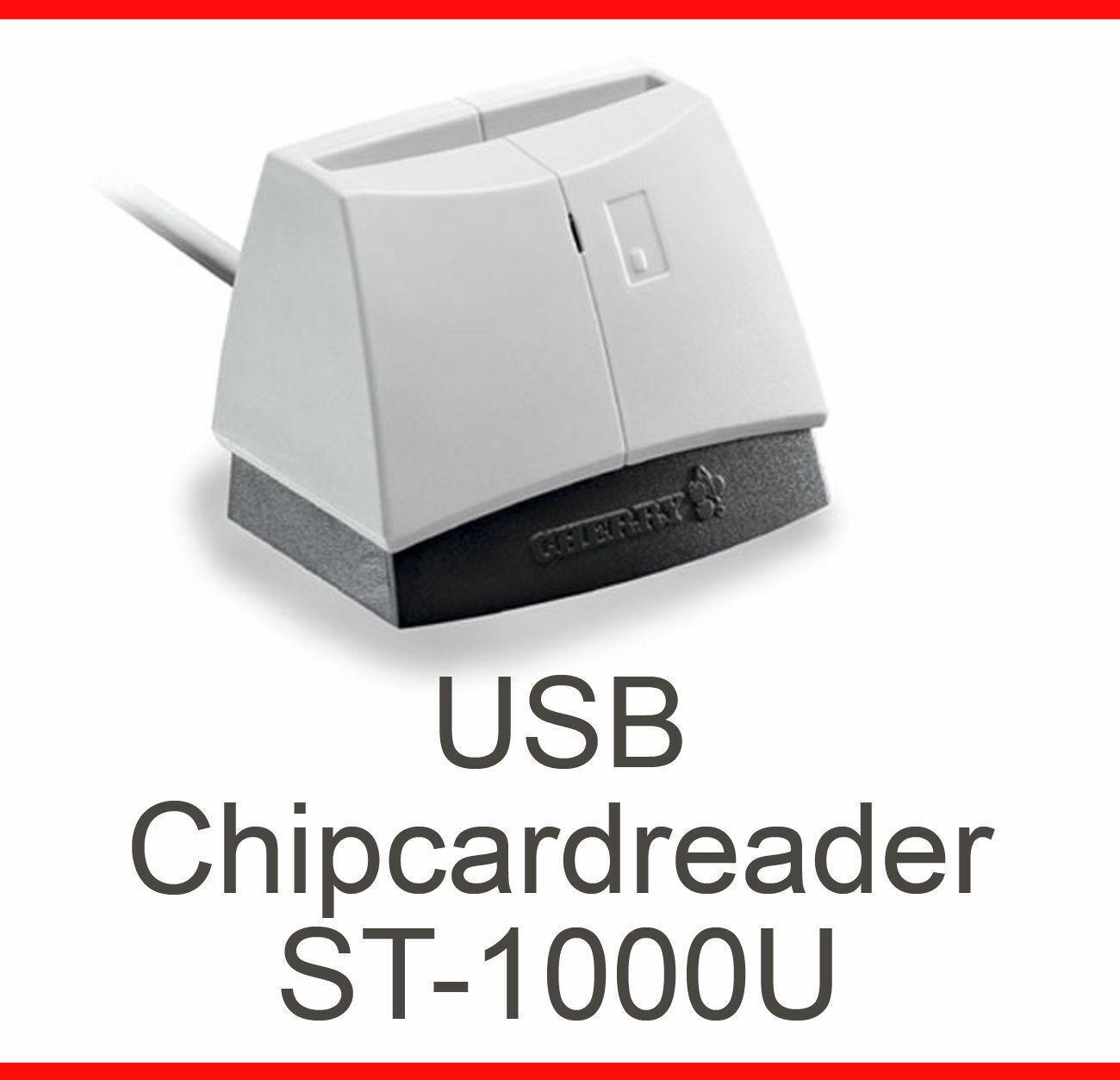 USB Cardreader Cherry ST-1000U Cardman 2020 Hbci Windows 98 XP 2000 Vista 7 8 10