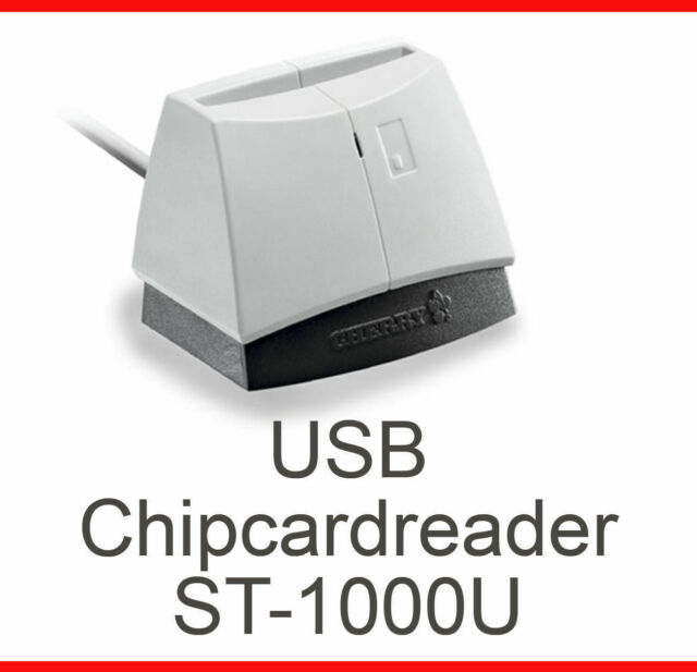 USB Card Reader Cherry St-1000u Cardman 2020 Hbci Windows 98 XP 2000 Vista 7 8