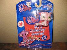 NEW 2008 Littlest Pet Shop Pink Glitter Cat My Collector Journal 1083 Hasbro #2
