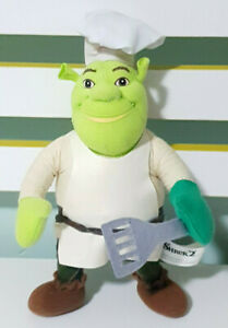 DreamWorks-Shrek-2-Shrek-Plush-Toy-Cooking-Outfit-Chef-Hat-Toy-22cm-Tall