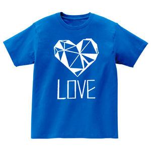 Ansaveh-034-Love-034-Kids-Round-neck-Statement-Shirt-Choose-Any-Color