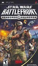 Sony PSP Star Wars Battlefront Renegade Squadron *COMPLETE* umd battle front war