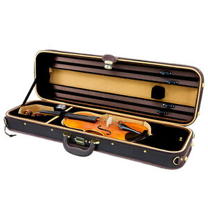NEW-Top-Grade-Deluxe-Quality-Solid-Wood-4-4-Size-Acoustic-Violin-Fiddle-Case-W10