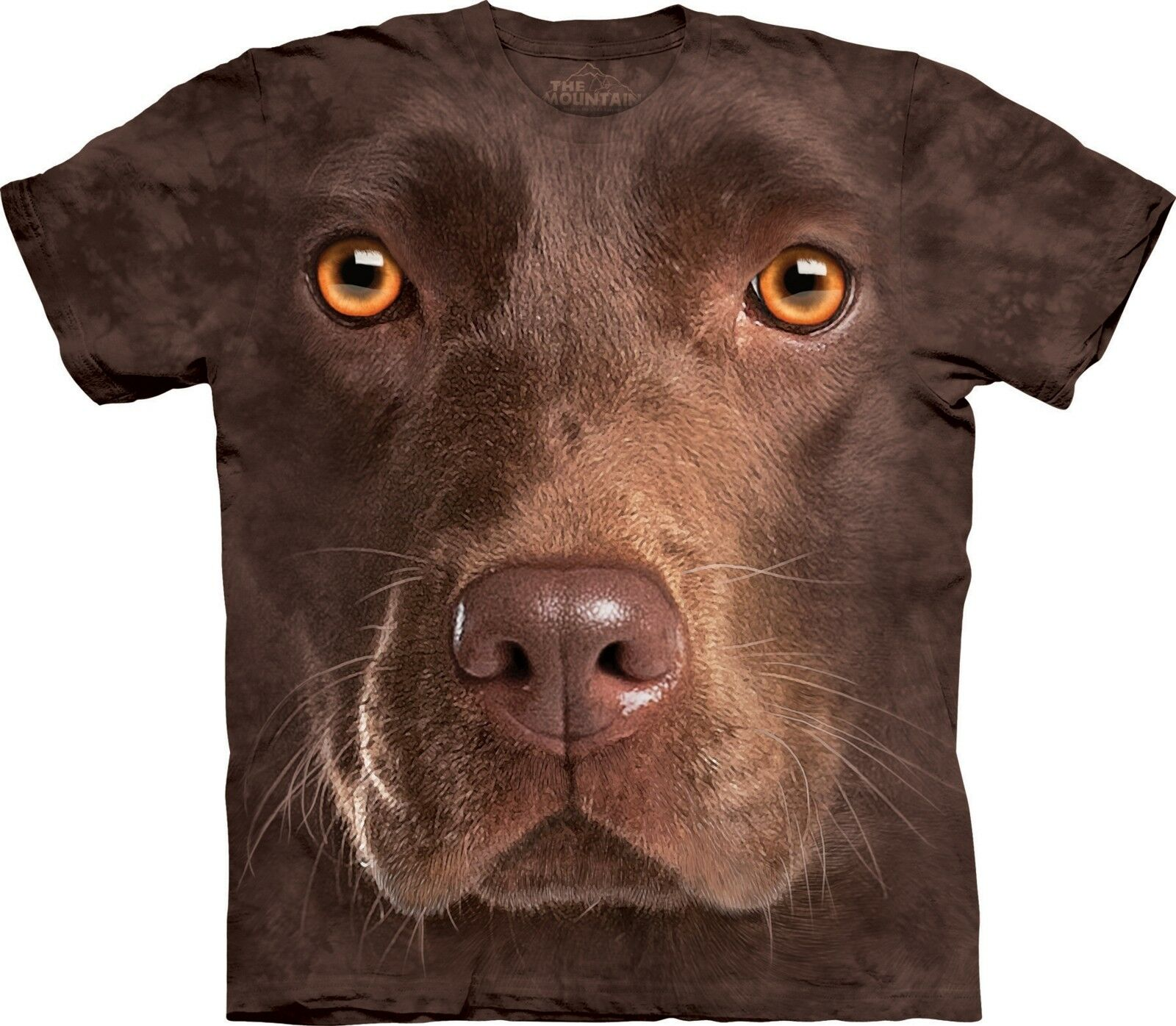 Chocolate Lab Face Dogs T Shirt Adult Unisex The Mountain