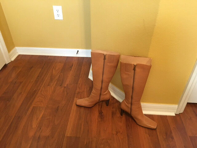 ANN HIGH KLEIN TAN KNEE HIGH ANN BOOTS 7 1/2 M 5f9690