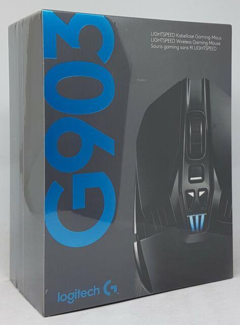 Logitech G903 LIGHTSPEED kabellose Gaming-Maus Lightsync RBG Schwarz - Neu & OVP