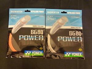 100% YONEX 2XBG 80 Power badminton racquet string BG80P