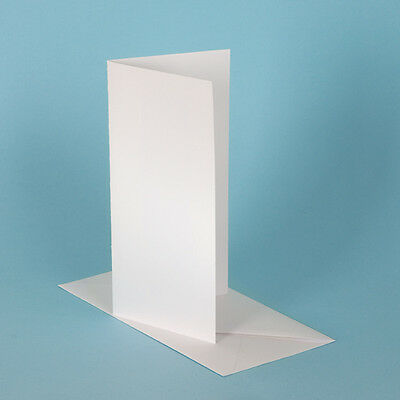 50 DL White Matte Card Blanks 300gsm & Envelopes
