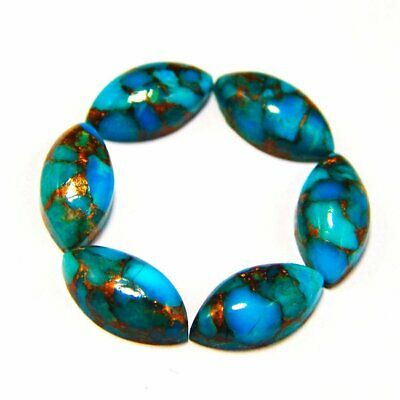 Lot Natural GREEN Copper Turquoise 5X5 mm Round Cabochon Loose Gemstone AB03