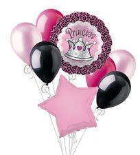Pink Princess Leopard Print Balloon Bouquet Set Happy Birthday Baby Shower 8pc
