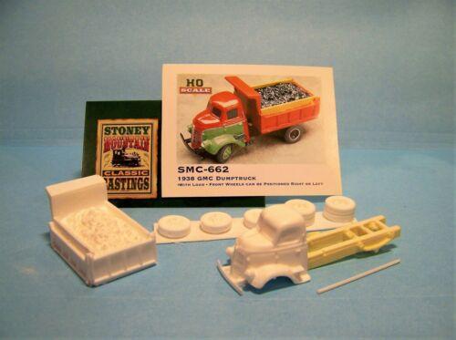 SMC-662 1938 Dump Truck w//Load  HO-1//87th Scale White Resin Kit