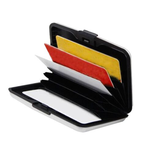 6Farbes Aluminium Kreditkarten-Etui Visitenkarten EC-Kartenetui Card CaseHe E4R4