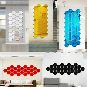Diy 3d Acrylic Modern Mirror Decal Art Mural Wall Sticker