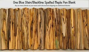 Spalted MAPLE Crotch WOOD Lathe TURNING PEN BLANKS Crazy Figure Black line Smv01