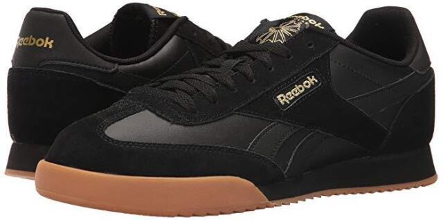 Men Reebok Royal Rayen 2 Fashion Sneaker BS9017 Color Black Gold  Metallic Gum 5f0fffa24